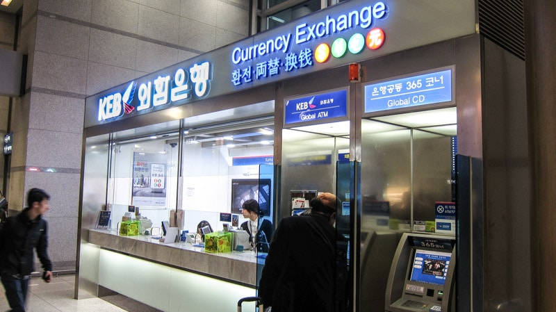 Currency exchange at Incheon International Airport