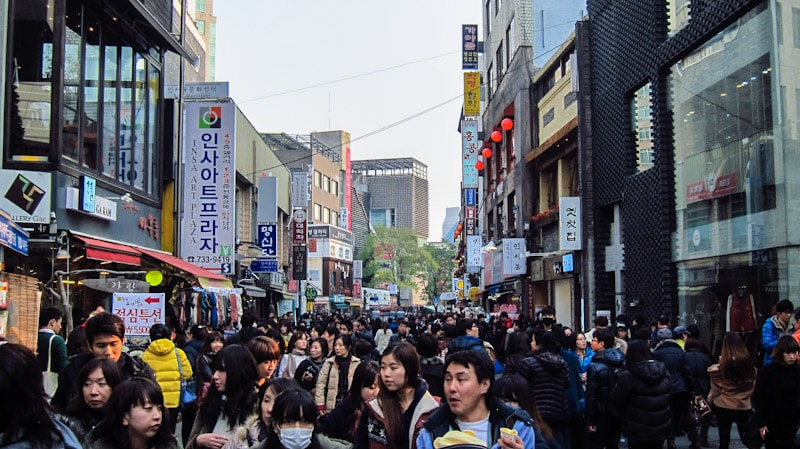 Insadong, Seoul on a Sunday afternoon